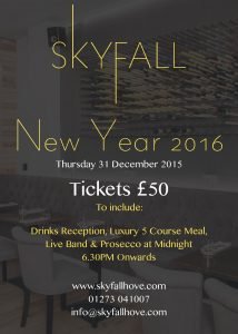 SkyFall New Years Eve Ticket